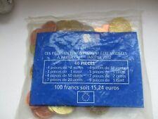 Euro Starter Kit 1er Janvier 2002 - 100 francs /15,24€ - 40 Pièces