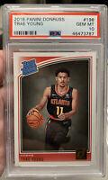 2018-19 Donruss Basketball Trae Young #198 PSA 10  Rookie RC Atlanta Hawks