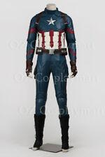 Captain America III Steve Rogers Civil War Full Set Halloween Cosplay Costume