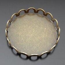 39621 Vintage Bronze Alloy Cameo Base Settings 25*25mm Pendants Trays 40pcs