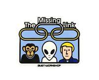 Alien WorkShop AWS The Missing Link Skateboard Sticker 2.1in X 1.7in NOS