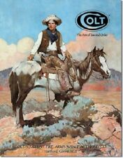 New Colt The Arm of Law and Order Decorative Metal Tin Sign