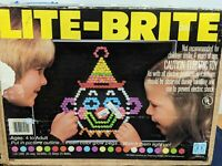 Rare Vintage 1981 Lite-Brite Toy 5455 w/Pegs with Original Instructions  (WORKS)