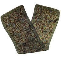 Sally Gee Vintage 100% SILK Scarf Paisley Hand Rolled Rectangle Made in Japan