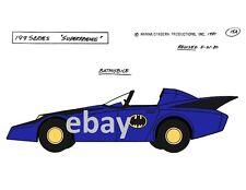 Super Friends BATMOBILE MODEL SHEET PRINT Hanna Barbera Cartoon Batman