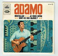 """ADAMO Vinyle 45 tours EP 7"""" INCH' ALLAH - JE VOUS OFFRE - VOIX DE SON MAITRE 957"""