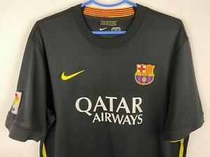 Nike FC Barcelona Jersey Men's Size XL Black Soccer Football T-Shirt
