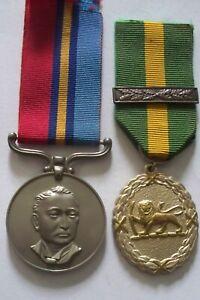 Rhodesia Territorial Long Service Medal & Bar Pair Capt. Sommerville Rhodesian