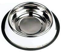 2 pz ** Ciotola acciaio per cani e gatti ** 2 ciotole in acciaio inox animali