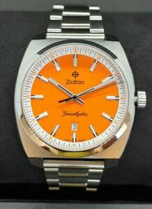 Zodiac Grandhydra Stainless Steel Watch Orange Dial ZO9952 HOT ITEM FOUR LEFT