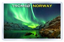 TROMS�˜ NORWAY AURORA BOREALIS FRIDGE MAGNET SOUVENIR IMAN NEVERA