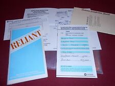1984 PLYMOUTH RELIANT OWNER INSTRUCTIONS MANUAL, WARRANTY FOLDER, BAG & MORE!