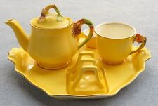 Royal Winton Yellow Petunia Tiger Lily 6-Piece Breakfast Tray Set