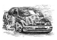 Ford Sierra RS Cosworth Rally Car. Art Illustration Print