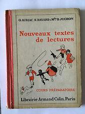 NOUVEAUX TEXTES DE LECTURES COURS PREPARATOIRE 1956 AURIAC HAVARD JUGHON