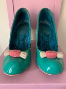 Irregular Choice Tickling Loris Size 41 Green In Need of Repair