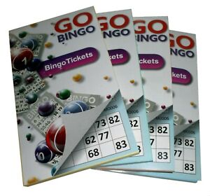 4 x 450 BINGO TICKETS PAD 6 TICKETS PER SHEET MIXED COLOURS (1800 IN TOTAL)