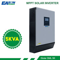 5KVA Solar Inverter 4000W 48V 230V Pure Sine Wave Hybrid MPPT Built-in 80A