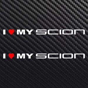 I love my Scion decal sticker heart for Toyota FR-S TC XB XD XA