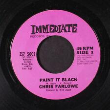 CHRIS FARLOWE: Paint It, Black / You're So Good For Me 45 Rock & Pop