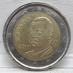 Monnaie 2 Euro Espagne 2011 Fauté Roue de wagon (70)