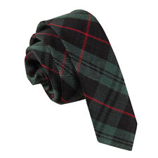 DQT Men's Cotton Scottish Tartan Skinny Tie Evening Wedding Work Ties