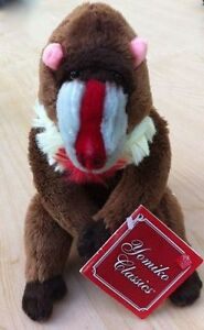 Mandrill Monkey Soft Plush Toy Called Mandi Small RUSS Yomiko Classics