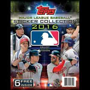 2016 TOPPS MLB STICKERS WITH ALBUM 10 PACKS WITH 8 STICKERS PER PACK NEW
