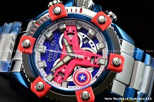 Invicta 56mm Marvel Octance Captain America Steve Roger Lim Ed Swiss SS Watch