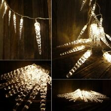 Icicle LED Light String 40 Ledzapfen Outdoor/Indoor Warm White Zapfenkette