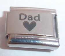 DAD & HEART Italian Charm 9mm fits Classic Bracelets I Love My Daddy Father N37
