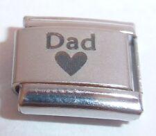 DAD & HEART Italian Charm 9mm fits Classic Bracelets I Love My Daddy Father N37