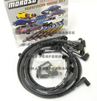 Moroso 9765M SBC 350 Chevy Sleeved Race Spark Plug Wires 90 degree Under Header