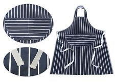 STRIPED BUTCHERS CHEF COOKING KITCHEN CATERING APRON BIB WITH POCKET PACK OF 1