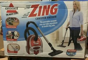 Bissell Zing Bagged Canister Vacuum, Model 7100 - Red NEW