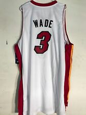 Adidas Swingman NBA Jersey Miami Heat Dwayne Wade White sz 4X