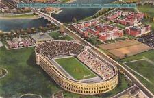 Postcard Harvard Stadium Business School Charles River Cambridge MA