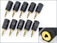 10pcs 2.5mm Female to 3.5mm Male TRS Gold Plated Audio Jack Adaptor Converter