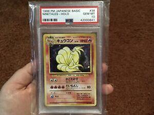 Pokemon Japanese Base Set Gem Mint Holo Ninetales PSA 10 Hard To Find Vintage