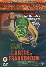 THE BRIDE OF FRANKENSTEIN BORIS KARLOFF ELSA LANCHESTER UNIVERSAL UK DVD NEW