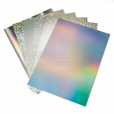 A4 Holographic Card - Luxury metallic products Choice of designs Silver