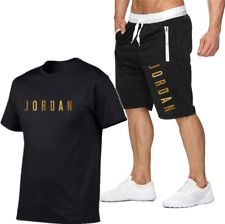 Jordan 23 T-Shirt + Shorts Set Active Tracksuit Sport Basketball Tops & Joggers