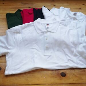 6 small MENS POLO shirts tee unisex BUNDLE pack  plain job lot mixed G cheap
