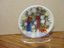 HALLMARK ORNAMENT 1987 1ST EDITION COLLECTOR'S PLATE LIGHT SHINES AT CHRISTMAS