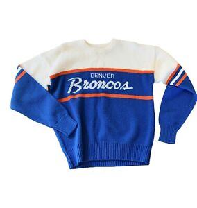 Denver Broncos Vtg Sweater Wool Elway Medium Orange Crush M NFL Pro Line Shirt