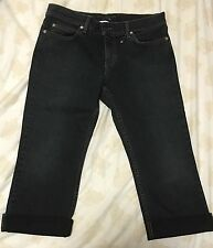 New Juicy Couture Massive attack Ultra Low Rise Roll Up Denim Jeans
