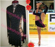 Ice Figure Skating Dress Baton Twilring Custom Dance Dress Competition xx389