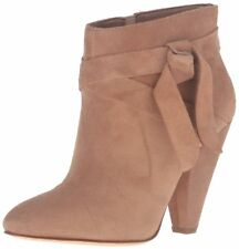 Nine West Womens Acesso Ankle Bootie Natural Suede Size 8.5 M US