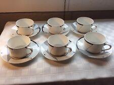 Christopher Stuart Optima Angles (6) Tea Cups With Saucers HK200