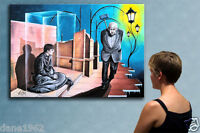 """51"""" - THE CAGE - original painting oil on canvas by Michael A. !!"""